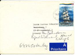 Sweden Cover Sent To Germany 14-5-1992 Single EUROPA CEPT Stamp - Sweden