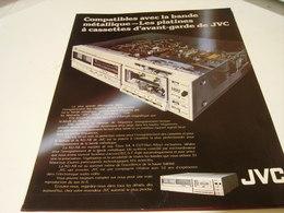 ANCIENNE PUBLICITE PLATINES A CASSETTES JVC 1979 - Musique & Instruments