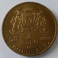 1 Euro De Ville 1998 - Bordeaux - Monument Aux Girondins - - Euros Of The Cities