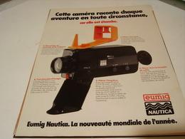 ANCIENNE PUBLICITE  CAMERA NAUTICA EUMIG 1979 - Fotografia