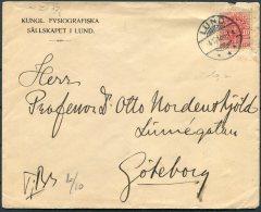 1912 Sweden 10 Ore Official Kungl. Fysiografiska Lund Cover -  Professor, Goteborg. - Schweden