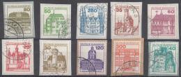 West-Duitsland - 4.000 Zegels - Burgen Und Schlösser - O - Onafgeweekt/op Fragment - Stamps