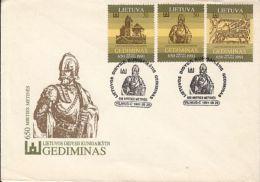 72670- GEDIMINAS, GRAND DUKE OF LITHUANIA, SPECIAL COVER, 1991, LITHUANIA - Lithuania