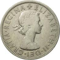 Monnaie, Grande-Bretagne, Elizabeth II, 1/2 Crown, 1955, TTB+, Copper-nickel - 1902-1971 : Monnaies Post-Victoriennes