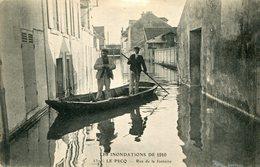Les Inondations De 1910 LE PECQ Rue De La Fontaine - Le Pecq