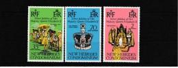 A08977)Queen Elisabeth II. / QE II.: Neue Hebriden 441 - 443** - Königshäuser, Adel