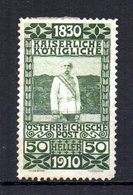 AUSTRIA 1910 MINT MH At - Unused Stamps