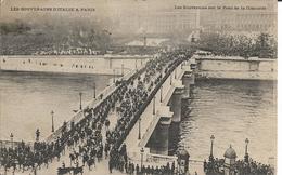 D75 - PARIS - LES SOUVERAINS D'ITALIE - LES SOUVERAINS SUR LE PONT DE LA CONCORDE  - PRECURSEUR - Ponts