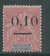 Madagascar N° 53  I  (.)  Timbre Surchargé :  0.10 Sur 50 C., Type I Neuf Sans Gomme Sinon TB - Madagascar (1889-1960)