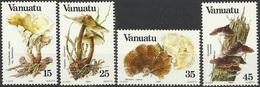 VA 1984-670-3 MUSHROOMS , VANUATU,1 X 4v, MNH - Pilze