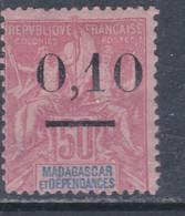 Madagascar N° 53  II (.)  Timbre Surchargé :  0.10 Sur 50 C., Type II Neuf Sans Gomme Sinon TB - Madagascar (1889-1960)