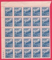 Chine 1950 - N°841 Neuf - Feuillet De 25 Timbres Luxe - 1949 - ... Volksrepublik
