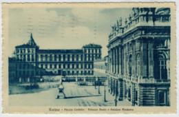 C.P.  PICCOLA   TORINO   PIAZZA  CASTELLO   PALAZZO  REALE  E  PALAZZO  MADAMA   1923      2 SCAN     (VIAGGIATA) - Palazzo Reale