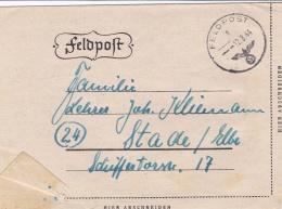 German Feldpost WW2: From Kowel (Ukraine) - Artillerie-Regiment 5 (8./III) FP 23419C P/m 12.8.1944 - Letter Inside. Unde - Militaria