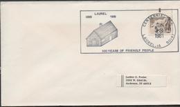 3314 Carta  Laurel , 100 Years Of  Friendly People  1981 - Etats-Unis