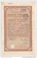 Ungheria Hungary 1914 Obbligazione Da 20 Pounds Timbro Del Regno D'Italia Anni '30 - Azioni & Titoli