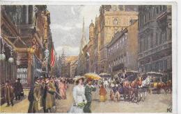 AK 0014  Wien - Kärntnerstrasse / Wiener Künstler-Postkarte Um 1920 - Wien Mitte