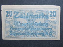 BANKNOTE Sigmundsherberg NÖ Kriegsgefangenlager Zahlmarke ///  D*33889 - Oesterreich