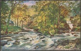 Watersmeet, Lynmouth, Devon, C.1935 - Valentine's Art Colour Postcard - Lynmouth & Lynton