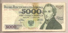 Polonia - Banconota Circolata Da 5000 Zloty P-150a - 1982 - Poland