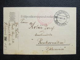 Feldpostkorrespondenzkarte Fedlpost Kolomyja Kolomea - Rakovnik 1914 ////  D*33896 - Storia Postale