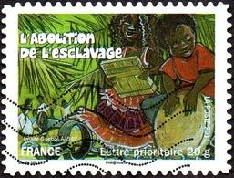 Oblitération Moderne Sur Autoadhésif De France N°  588 - Fêtes Et Traditions - L'abolition De L'esclavage à La Réunion - France
