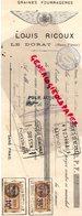 87- LE DORAT - MANDAT TRAITE- LOUIS RICOUX- GRAINES FOURRAGERES HORTICULTURE-AGRICULTURE 1933 - Agriculture