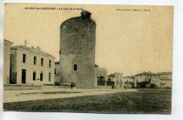 17 AULNAY De SAINTONGE La Poste Et La Tour Place Du Village  écrite Vers 1910      /D03-2017 - Aulnay
