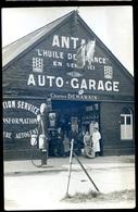 Cpa Carte Photo De Luneray Auto Garage Station Service Charles Demarais Antar Voiture Autogène Aout18-2 - Dieppe