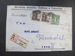 BRIEF Vukovar - Praha 1919   ////  D*33903 - 1919-1929 Königreich Der Serben, Kroaten & Slowenen