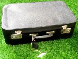 Ancienne Valise Vintage Simili Cuir Anthracite - Boxes