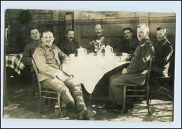 P2W65/ Soldaten Trinken Kaffee, Landst. Inf-Batl. Wismar 1. Weltkrieg Foto AK - Guerre 1914-18