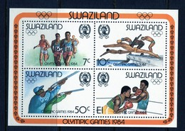 Swaziland 1984 Olympic Games, Los Angeles MS MNH (SG MS461) - Swaziland (1968-...)