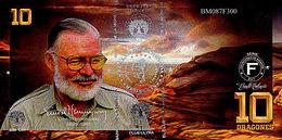 El Club De La Moneda  10 Dragones 2017  Ernest Hemingway  Polymer Série Les Grands écrivains Du Monde  UNC - Fictifs & Spécimens