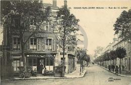 /! 7540 - CPA/CPSM  :  58 - Cosne Sur Loire : Rue Du 14 Juillet - Cosne Cours Sur Loire
