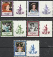 VA 1986-720-4 ROYAL FAMILY, VANUATU,1 X 5v + Labels, MNH - Königshäuser, Adel