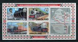 Swaziland 1984 20th Anniversary Of Swaziland Railways MS MNH (SG MS470) - Swaziland (1968-...)
