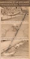 NATATION : PISCINE DES TOURELLES, ALEX JANY, GEORGES VALLEREY, PIROLLEY, ODETTE CASTEUR, COUPURE REVUE (1949) - Swimming
