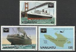 VA 1986-725-7 SHIPS, VANUATU,1 X 3v, MNH - Schiffe