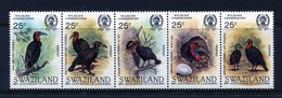 Swaziland 1985 Birth Bicentenary Of John J. Audubon - Ground Hornbills Set MNH (SG 481-485) - Swaziland (1968-...)