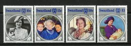 Swaziland 1985 Life And Times Of Queen Elizabeth The Queen Mother Set MNH (SG 486-489) - Swaziland (1968-...)