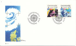 Denmark FDC 2-5-1991 EUROPA CEPT Complete Set Of 2 With Cachet - Europa-CEPT