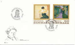 Denmark FDC 7-11-1991 ART Paintings Complete Set Of 2 With Cachet - FDC