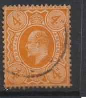 GB, 1911  4d Deep Bright Orange P15x14 Printed By Harrison SG Spec. M27(2) (N) - 1902-1951 (Re)