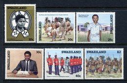 Swaziland 1986 Coronation Of King Mswati III Set MNH (SG 505-510) - Swaziland (1968-...)