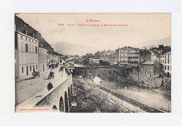 L'Ariège. Foix. Vue Sur L'Ariège Et Route De Tarascon. Charrettes, Voitures à Chevaux. (3065) - Foix