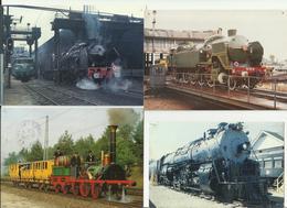 Lot 4 Cartes Postales Locomotives , Trains - Trains