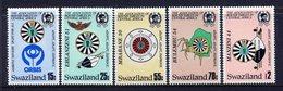 Swaziland 1986 50th Anniversary Of Round Table Organization Set MNH (SG 511-515) - Swaziland (1968-...)
