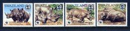 Swaziland 1987 White Rhinoceros Set MNH (SG 529-532) - Swaziland (1968-...)