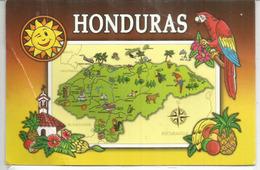 Carte Du Honduras, Belle Carte Postale Adressée Andorra, Avec Timbre à Date Arrivée - Honduras